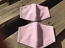 Rúška - XS-detské rúško -staroružová s bodkami - 12336158_