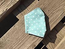 Rúška - XS-detské rúško -tyrkysová s bodkami - 12336202_