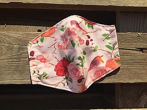 Rúška - rúško dvojvrstvové -ruže - 12336150_