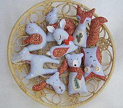 Dekorácie - vianočná kolekcia - lesná zmes - 12338375_