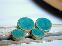 Náušnice - keramické náušnice č.257_ bodky tyrkys - 12338290_