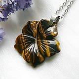 Náhrdelníky - Kvet z tigrieho oka - 12339420_