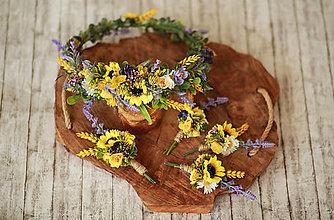 Pierka - Svadobné pierko pre ženícha - slnečnice - 12340496_