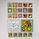 Hračky - Pexeso papierové (Zvieratká z dvora) - 12340523_