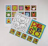 Hračky - Pexeso papierové (Zvieratká z dvora) - 12340524_