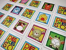 Hračky - Pexeso papierové (Zvieratká z dvora) - 12340529_