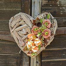 Dekorácie - Drevené srdce na Dušičky - 12339051_