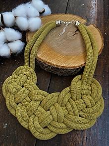 Náhrdelníky - Velký uzel - kiwi - 12339274_