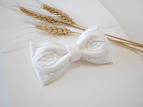 Doplnky - SLIM motýlik biely - 12340046_