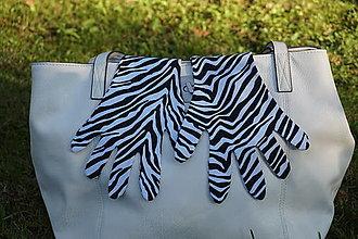 Rukavice - Rukavičky - Zebra - 12339951_