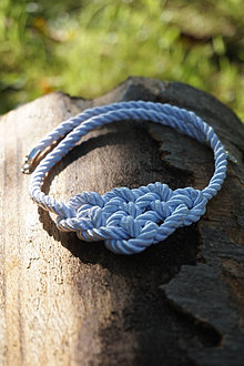 Náhrdelníky - Uzlový náhrdelník biely - 12340167_