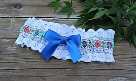 Bielizeň/Plavky - Folklórny svadobný podväzok - P65 - 12337827_