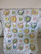 Úžitkový textil - Veselá sovičková deka + papučky - 12339177_