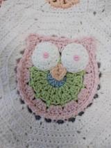 Úžitkový textil - Veselá sovičková deka + papučky - 12339275_