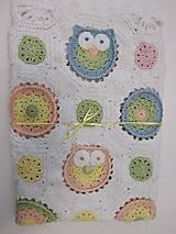 Úžitkový textil - Veselá sovičková deka + papučky - 12339294_