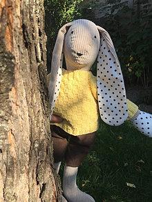 Hračky - zajko v žltom svetríku .... - 12339248_