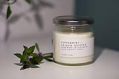 Svietidlá a sviečky - Sojova sviečka - Peppermint - 12337590_