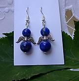 Náušnice - Náušnice anjeli z lapis lazulitu - 12340263_