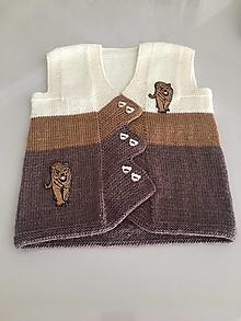 Detské oblečenie - Vestička pre chlapčeka - ihneď k odberu - 12337623_
