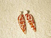 Náušnice - Náušnice z polyméru, metalická jeseň - 12338384_