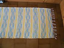 Úžitkový textil - Tkaný koberec žlto-jemne-melírovaný - 12337977_