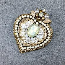 Brošne - Angel's heart... brož - 12341222_