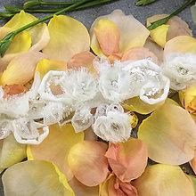Bielizeň/Plavky - Romantic ... svatební podvazek - 12341239_