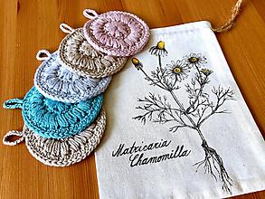 Úžitkový textil - Set tampónov v praktickom vrecúšku (Kresba kamiliek) - 12342699_