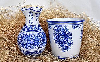 Nádoby - Praktická sada 5: Váza a kvetináč - 12341210_