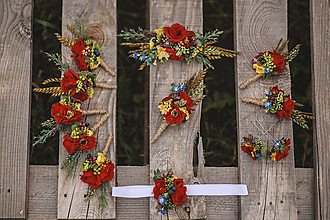 Ozdoby do vlasov - Folk svadobný set - výroba na mieru - 12342046_