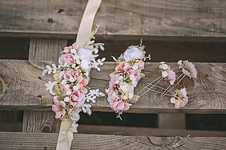 Opasky - Romantický kvetinový set - 12342148_