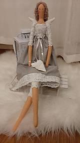 Bábiky - Anjelka - Tilda, vyrobená na objednávku - 12341678_