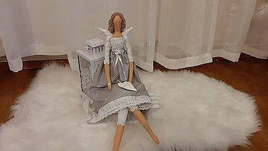 Bábiky - Anjelka - Tilda, vyrobená na objednávku - 12341677_