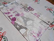 Úžitkový textil - Nákupné vrecko na pečivo - Paríž - 12341272_