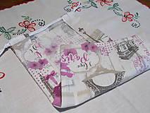 Úžitkový textil - Nákupné vrecko na pečivo - Paríž - 12341273_