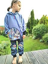 """Detské oblečenie - Softshellky """"modrá lúka"""" - 12344158_"""