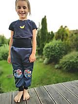"""Detské oblečenie - Softshellky """"modrá lúka"""" - 12344166_"""