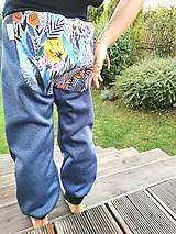 """Detské oblečenie - Softshellky """"modrá lúka"""" - 12344169_"""