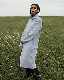 Šaty - Šedé vafle šaty - 12341108_