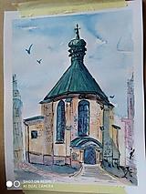 kostol sv. Kataríny, B.Štiavnica, akv.
