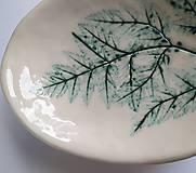 Nádoby - Keramická mištička s rastlinným motívom - 12342298_