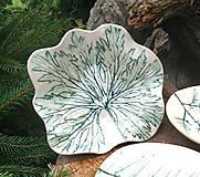 Nádoby - Keramická miska s rastlinným motívom - 12342314_