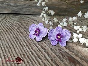 Náušnice - Náušnice Orchidey - 12342407_