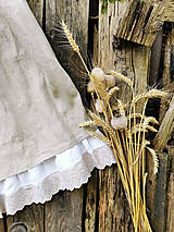 Šaty - Ľanové shabby šaty  - 12343463_