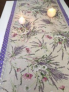 Úžitkový textil - Štóla LEVANDUĽKA - 12342938_