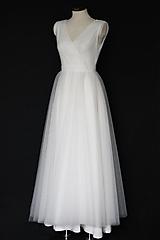Šaty - Jednoduché tylové šaty na zavinovací štýl - 12342532_