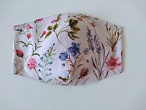 Rúška - Dizajnové rúška (Lúčne kvety) - 12341635_