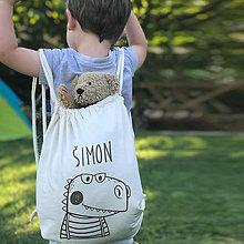 Detské tašky - Vrecko LiLu - dinosaurus - 12341003_