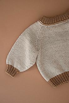 Detské oblečenie - Sveter Natália vo farbe Beige/Brown - 12342430_