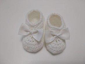 Topánočky - Biele topánočky - 12341124_